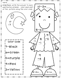 halloween numbers printable halloween subtraction color by number frank pdf google drive