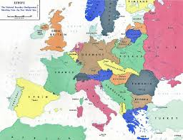 1914 World Map by Of European Countries In 1914