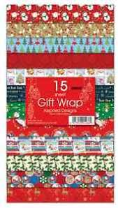 new15 sheets christmas gift wrap wrapping paper assorted designs