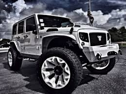 jeep custom 2017 jeep wrangler unlimited custom lifted whiteout leather