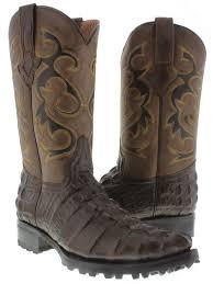 tan biker boots cowboy boots men u0027s brown crocodile tail cowboy boots j toe