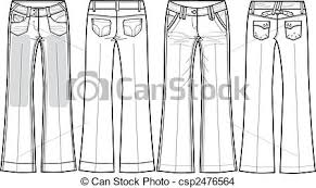 eps vector of denim jeans bootcut csp2476564 search clip art