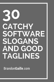 list of 31 catchy software slogans and good taglines software