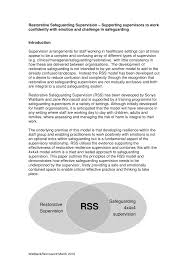 the integrated model of restorative supervision for use within