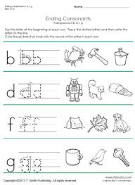 ending consonant phonics worksheets