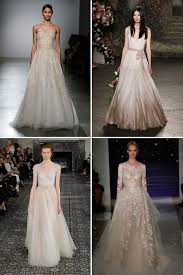 blush wedding dress trend our top 10 trends from 2016 york bridal fashion week