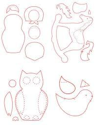 free patterns for felt ornaments vintage craft