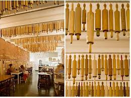 restaurant decor a restaurant decor idea to steal rolling pins hung from the ceiling