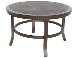 38 round coffee table sunvilla fauxwood aluminum 38 round coffee table copperhead