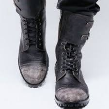 s boots biker badass militray vintage custom made mens biker boots shoes by