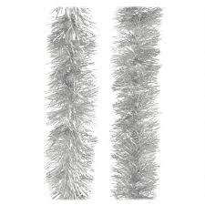 15 foot silver tinsel garland novelty bead tinsel garlands