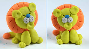play doh lion how to make step by step for kids clay art