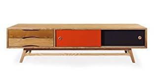 mid century modern media cabinet amazon com kardiel color pop mid century modern media cabinet oak