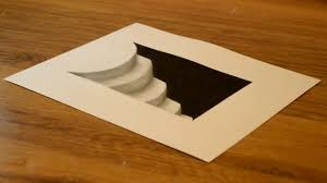 how to draw 3d hole stairs for kids anamorphic illusion 3d trick art on paper drawing tutorial