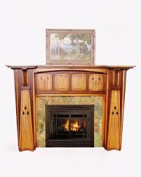 arts u0026 crafts style fireplace mantel too ornate but i like the