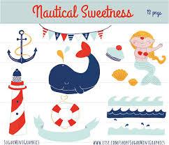 whale ribbon nautical clip nautical clip bunting anchor whale