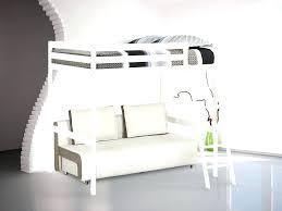 lit mezzanine 2 places avec canapé lit mezzanine avec canape convertible amusant lit mezzanine et