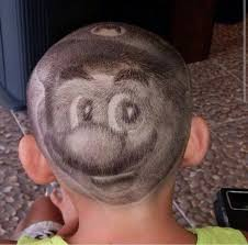 8 haircut look better than 8 bit kid has super mario shaved into hair the