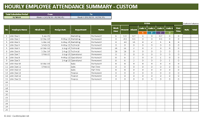 time management weekly planner template employee vacation planner part time employee attendance tracker custom summary