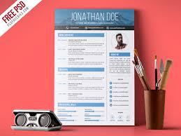 Resume Template Design Free Designers Cv Template Free Psd Free Psd Ui Download