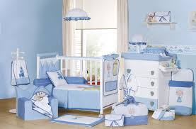 Nursery Decor Ideas For Baby Boy Walls Interiors Blue Baby Nursery Interior And Furniture Ideas