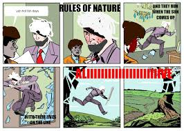Running Dad Meme - rules of nature running dad know your meme