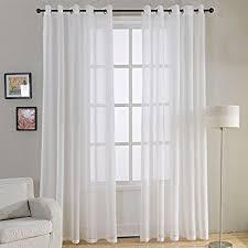 vorhänge wohnzimmer de top finel 2 stück transparent voile gardinen wohnzimmer