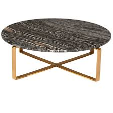 Marble Coffee Table Rosa Modern Marble Coffee Table Black Brushed Gold