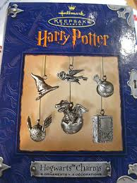 harry potter series pewter hallmark ornament hogwarts charms