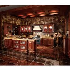 Wholesale Custom Kitchen Cabinets Walnut Solid Wood Modern Guangzhou Wholesale Custom Kitchen