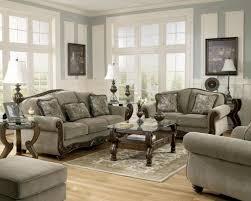 Ashleys Furniture Living Room Sets Traditional Sofa Loveseat Chair Ottoman 4 Living