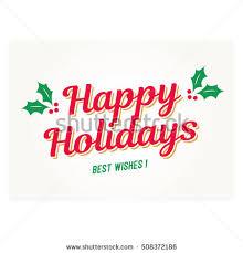 happy holidays card mistletoe editable vector stock vector