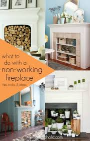 How To Decorate A Non Working Fireplace Remodelaholic Decorating Around An Off Center Non Functional