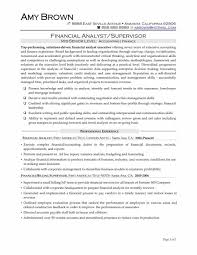American Resume Example Corporate Financial Analyst Resume Examples Finance Resume