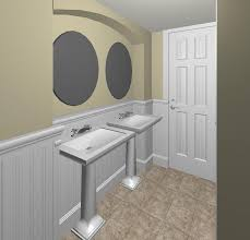 Bathroom With Beadboard Walls by Cheap Houzz Bathrooms With Beadboard Make The Most Of Your Floor