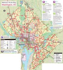 American Route Map by Large Metrobus Route Map Of Washington D C Washington D C