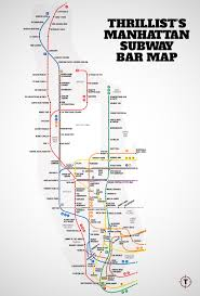 Metro Map Nyc by Nyc Subway Map With Bars For Every Stop Thrillist