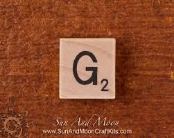 natural wood scrabble tile wooden tiles letter g