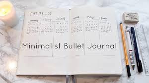 my minimalist bullet journal set up youtube