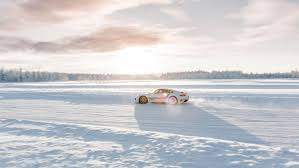 porsche 911 snow ice cold driving pleasure