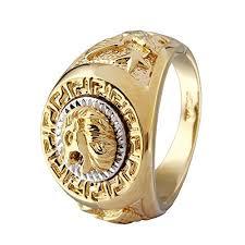 gold ring images for men fashion men 18k gold gp cool lion eagle