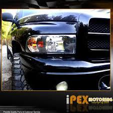black 1994 2001 dodge ram 1500 2500 3500 headlights w corner