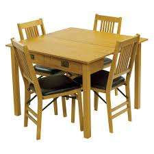 stakmore mission style expanding dining table hayneedle