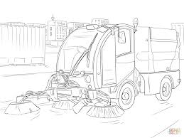 street sweeper coloring page free printable coloring pages