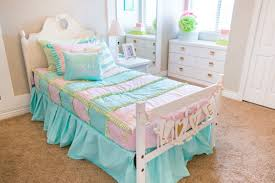 little girls pink and turquoise bedding adorable pastel colors