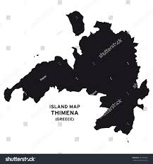 Blank Map Of Greece by Island Map Thimena Greece Stock Vector 531955264 Shutterstock