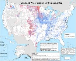 Wind Map United States by Soil Erosion On Cropland 2007 Nrcs