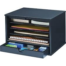 Staples Desk Organizers Victor Wood Desktop Organizer Midnight Black Staples