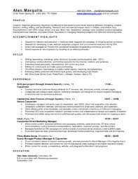 Product Manager Resume Sample Finance Manager Resume Template Best Finance Manager Resume