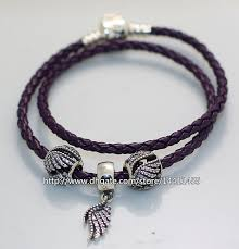 braided leather charm bracelet images Pandora purple double braided leather bracelet jpg